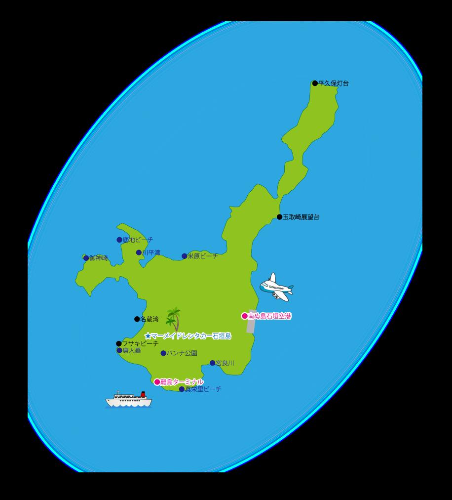 石垣島マップ